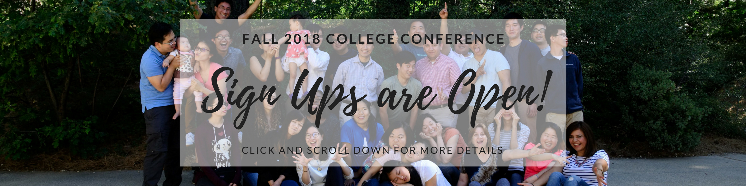 Fall 2018 Conference Banner